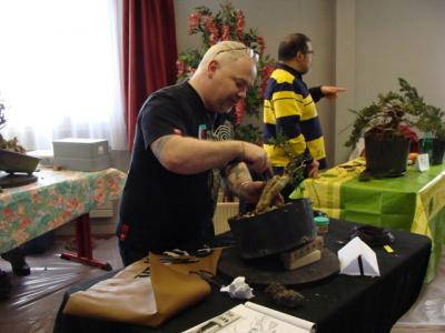 1er cours  de la premi�re classe Acadmemy Bonsai 13-14-15 octobre 2011 (28).JPG